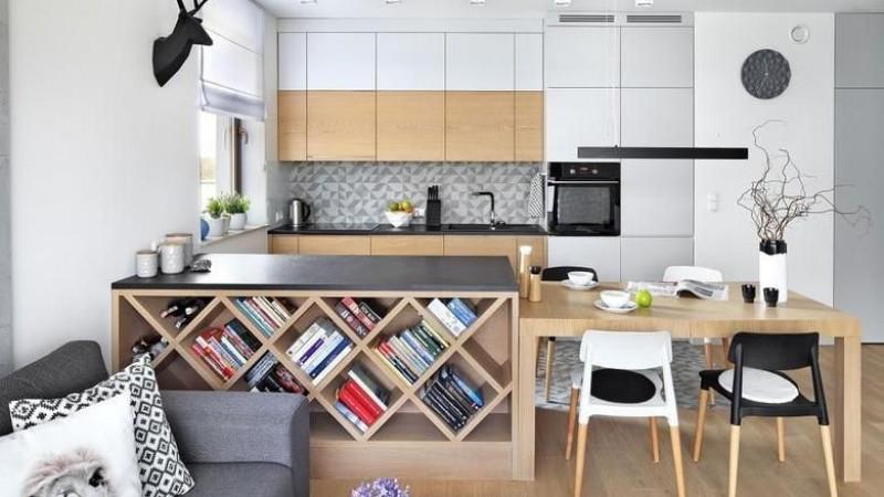 Зочны өрөө болон гал тогоо нь хамтдаа өрөөний 20 загвар